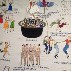 La chaise rose d'Ulla Andersson, détail