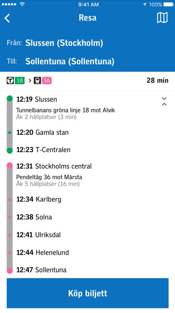 Stockholm Public transport (SL) prices 2019
