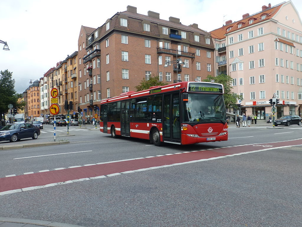 Bus 75 à Rörstrandsgatan