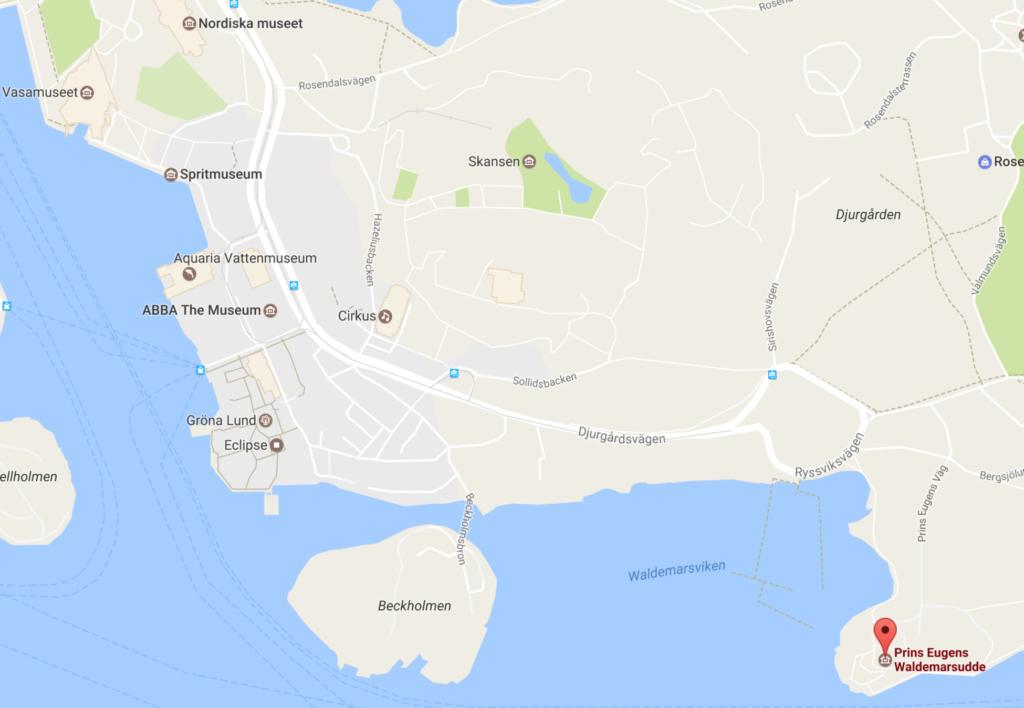 Google map Waldemarsudde