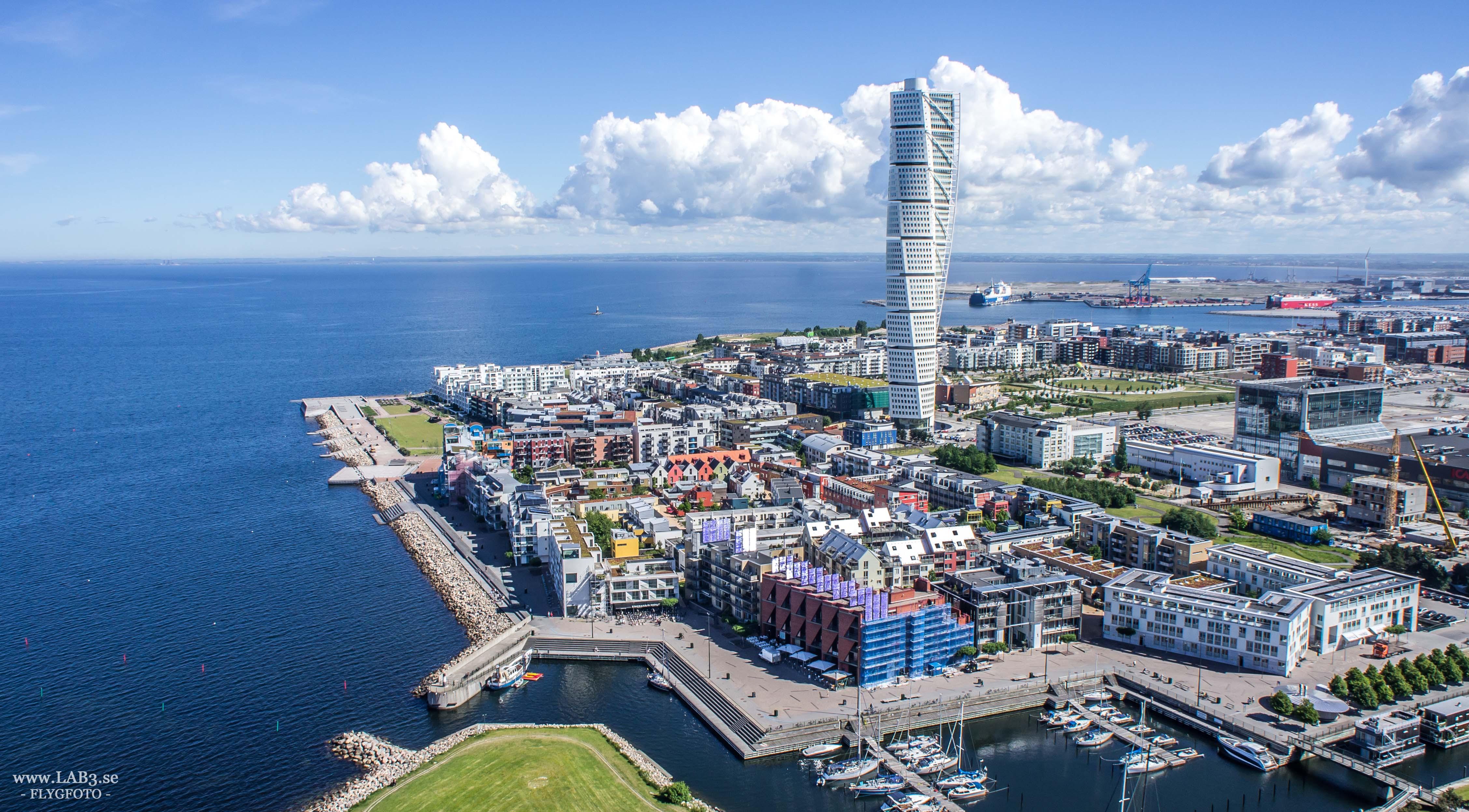 Vue aérienne de Malmö