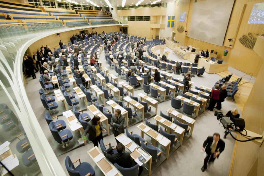 Intérieur du Parlement suédois