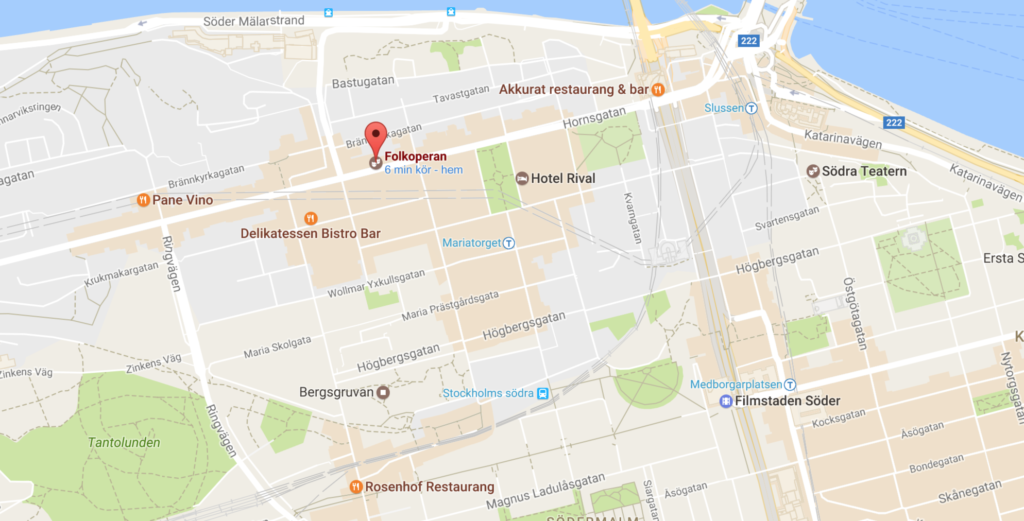 Google map Folkoperan