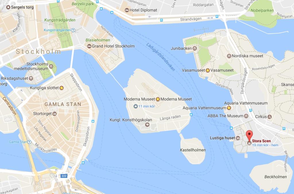 Gröna Lund Google maps