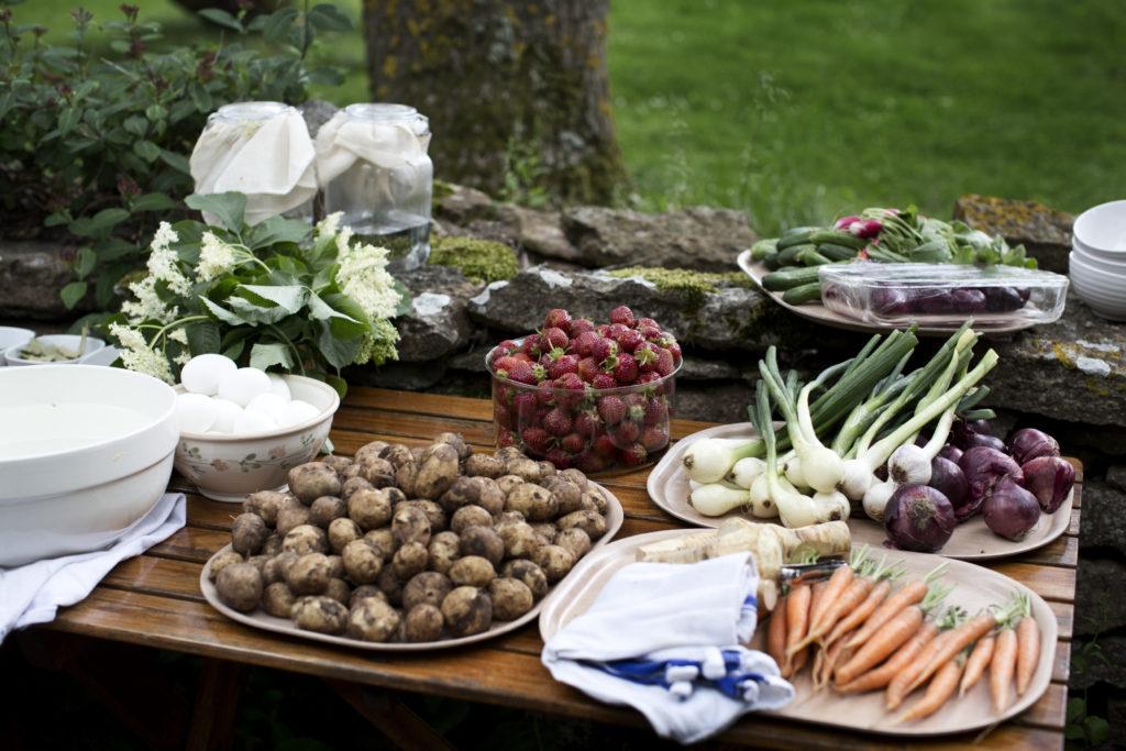 Ingrédients pour repas de midsommar