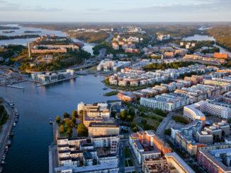 Hammarby Sjöstad, vue aérienne
