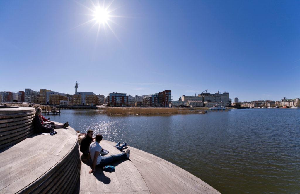 Pontons à Hammarby Sjöstad