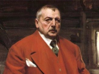 Anders Zorn, Autoportrait en rouge (1915)