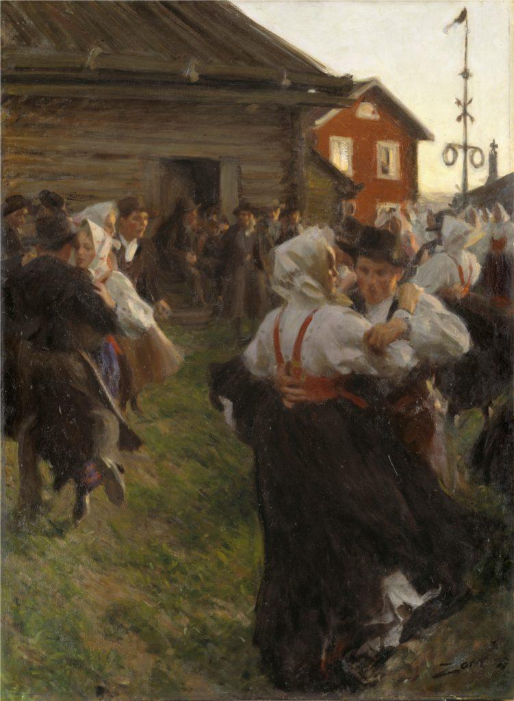 Anders Zorn, La danse de Midsommar, 1896 (Nationalmuseum NM 1603)
