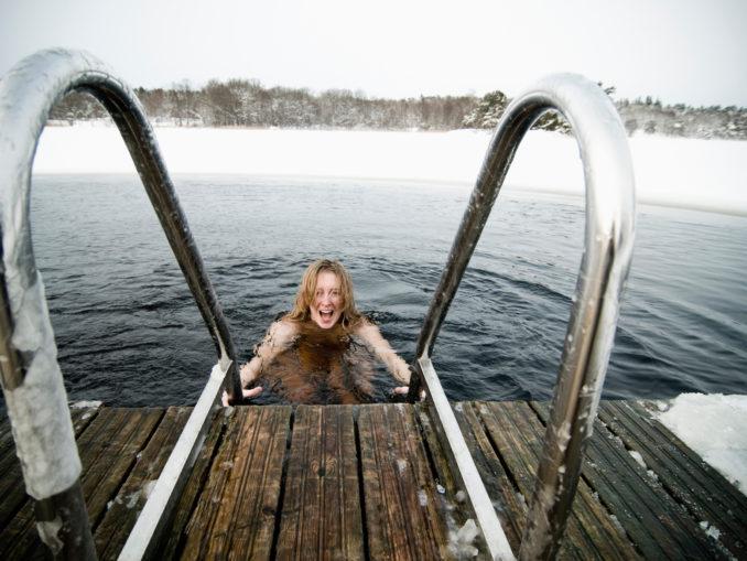 Baignade d'hiver