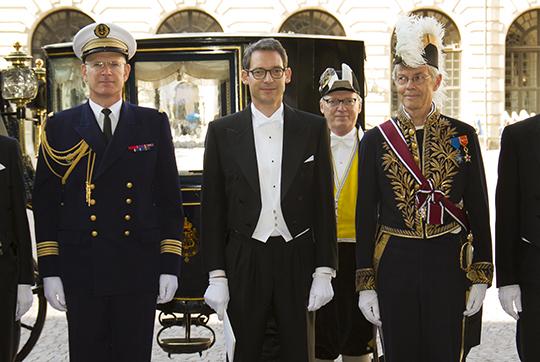 Remise de lettre de créance au Palais Royal de Stockholm