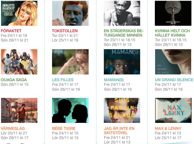 Uppsala Franska Filmfestival - Programme