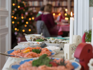 Julbord, table de Noël
