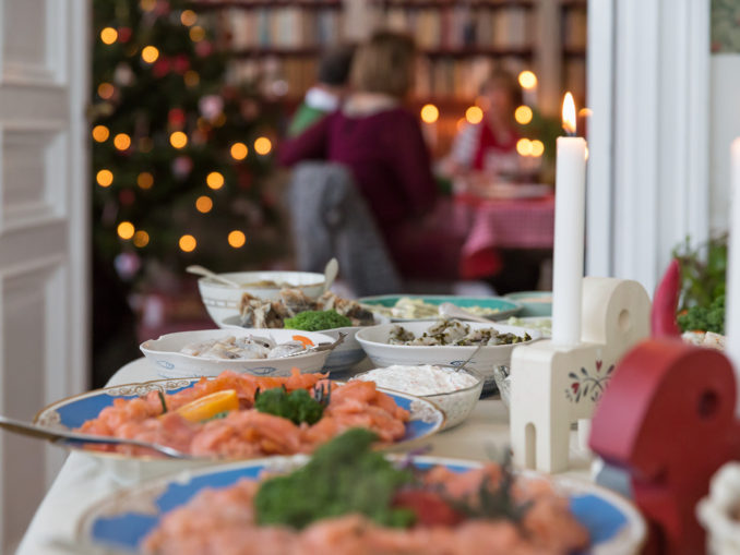 Julbord, table de Noël