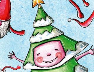 Illustration de décembre - détail