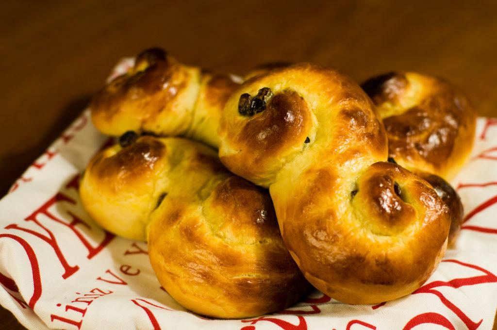 Petits pains au saffran - lussekatter