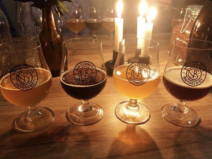 Dégustation de bières à Nya Carnegiebryggeriet