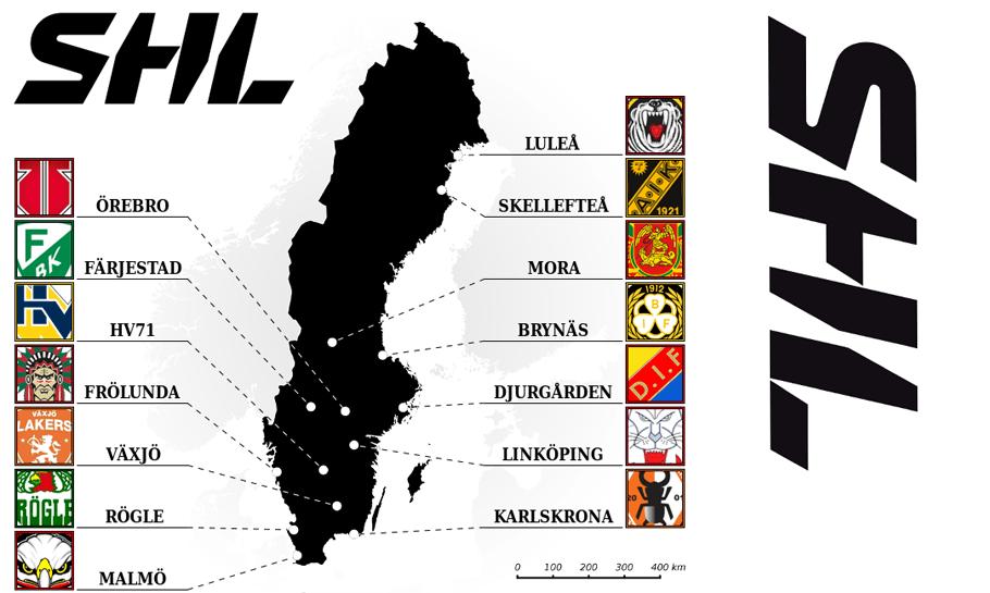carte équipes en Suède