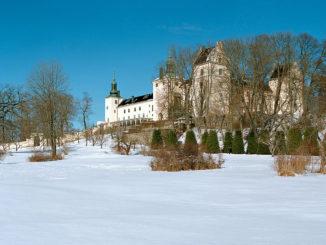 Le château de Tyresö l'hiver