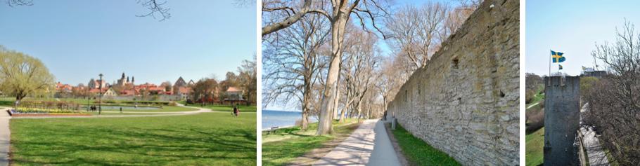Parc d'Almedalen - Muraille de Visby