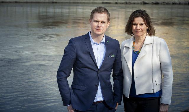 Gustav Fridolin et Isabella Lövin, Miljöpartiet