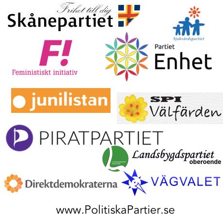 Logo autres partis politiques suédois