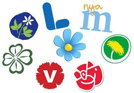 Logo des différents partis suédois au Riksdag