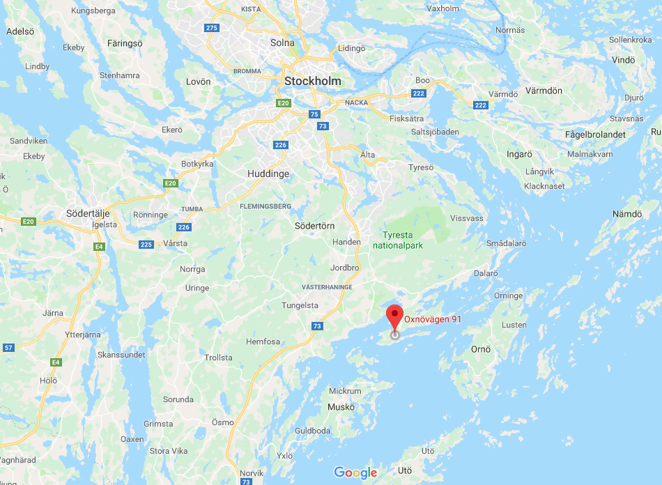 Sälsationen sur Gålö, Google maps