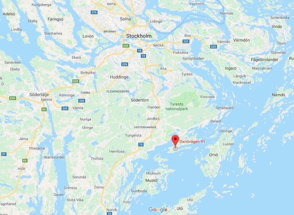 Sälsationen sur Gålö, Google maps