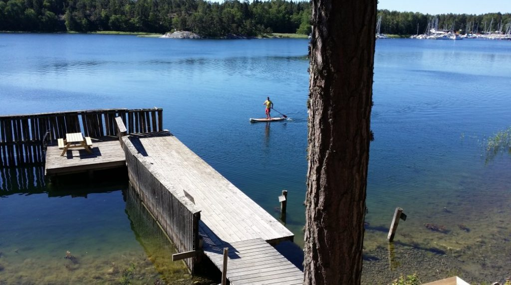 Stand-up paddling à Sälstationen