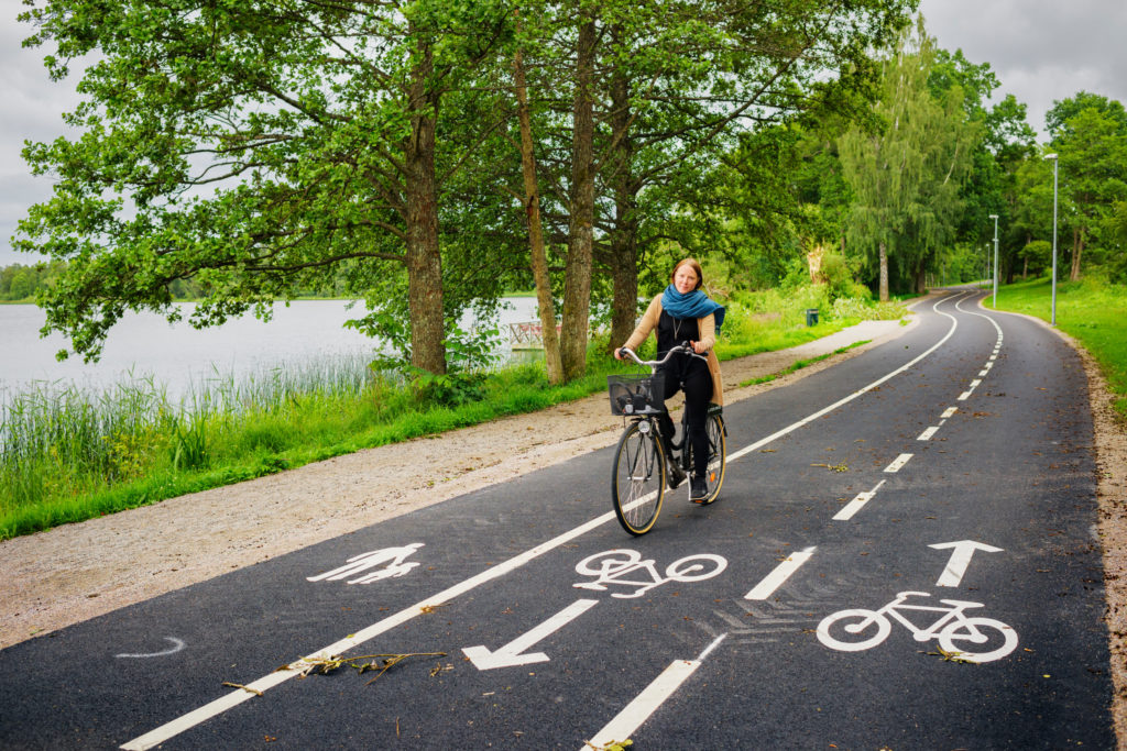 Piste cyclable à Växjö