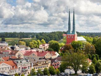 Vue sur Växjö et la cathédrale