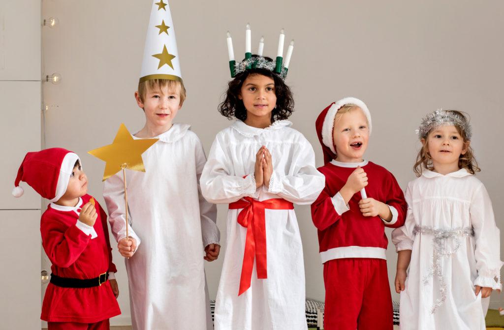 Enfants fêtant Lucia