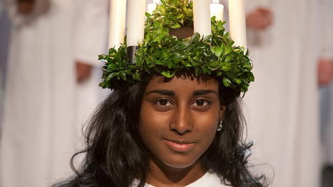 Fête de Lucia à la télé suédoise en 2012