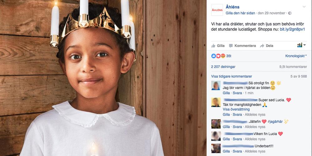 Campagne publicitaire Lucia 2017 d'Åhléns