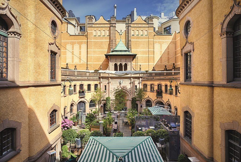 La cour intérieure l'été, Hallwylska museet