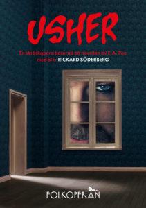 Affiche de l'opéra Usher à Folkoperan