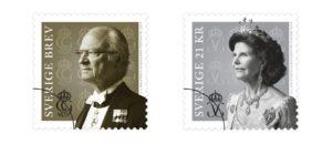 Le roi et la reine de Suède sur des timbres suédois
