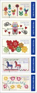 Timbres suédois pour l'étranger
