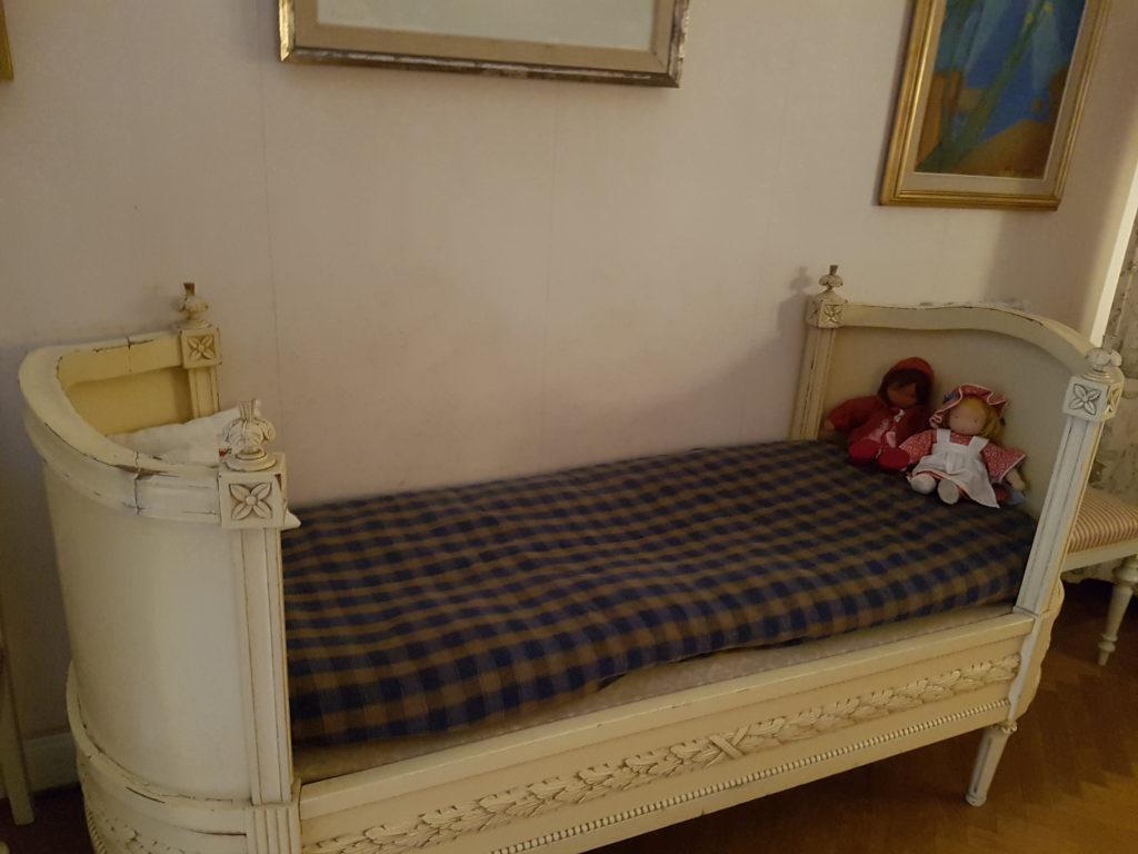 Lit d'enfant dans l'appartement d'Astrid Lindgren
