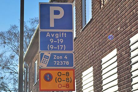 Pancarte de parking