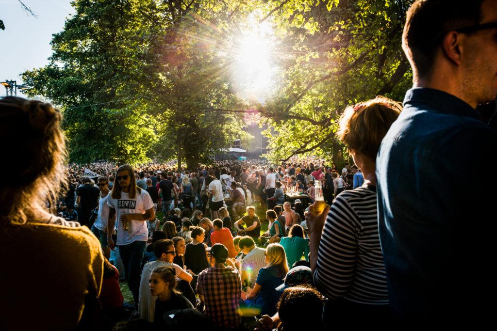 Public à festival de musique