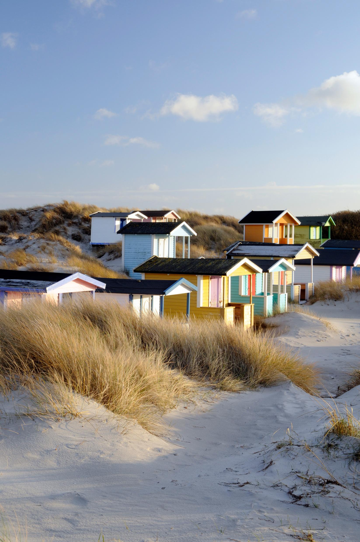Cabanes sur la plage de Skanör
