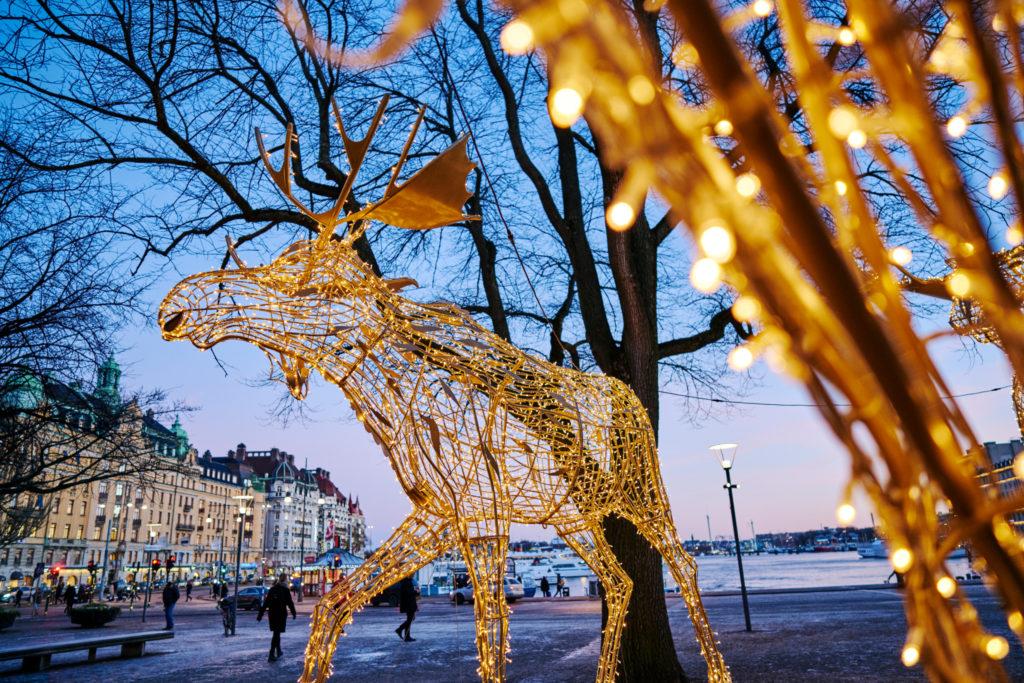 Décorations de Noël à Stockholm