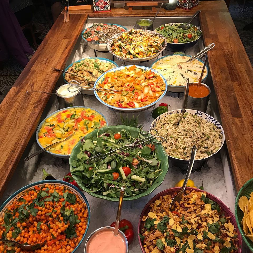 Buffet vegan de Hermans