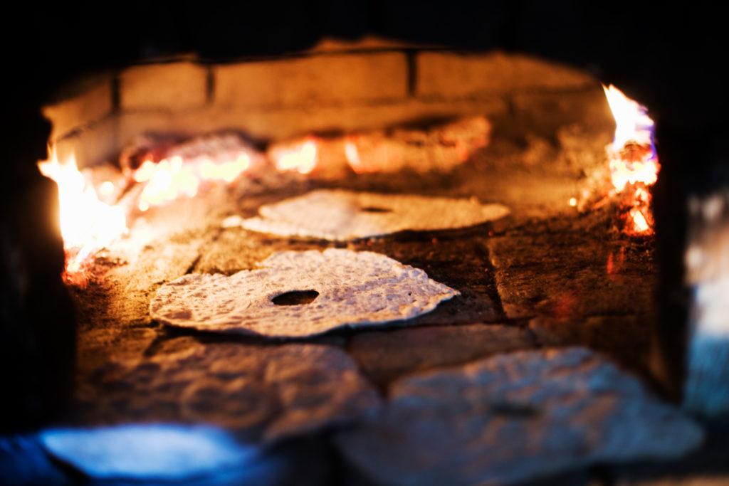 Knäckebröd au four à bois