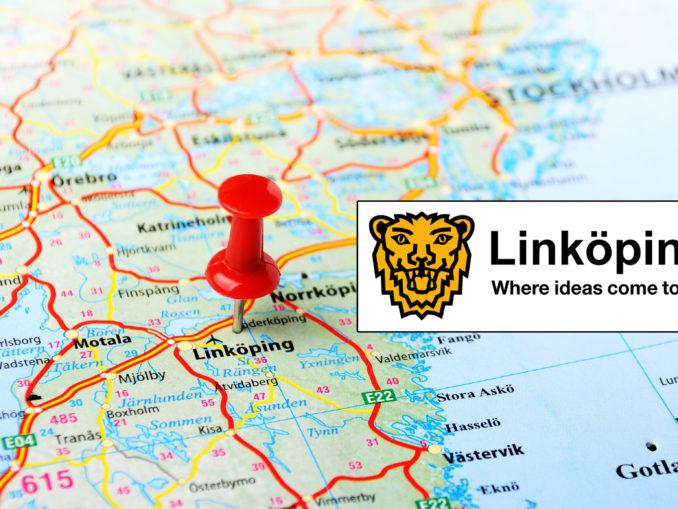 Linköping sur une carte