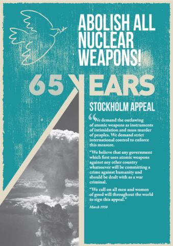Affiche produite en 2015 par le World Peace Council (WPC)