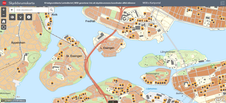 Les abris anti-atomiques de Stora Essingen
