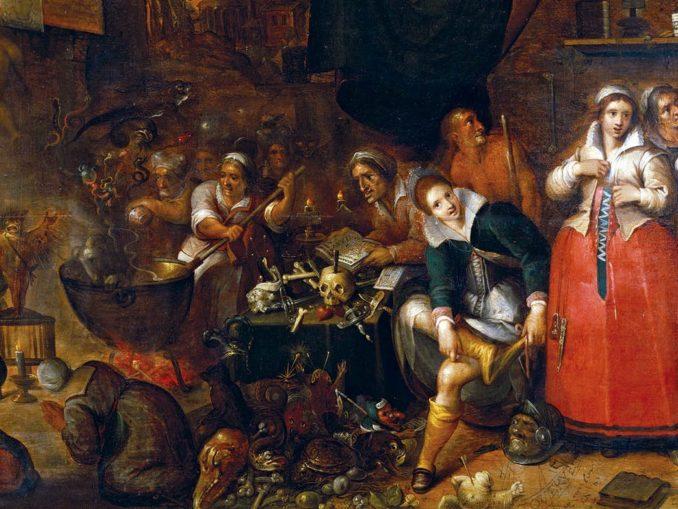 La cuisine des sorcières, peint par Frans II Francken